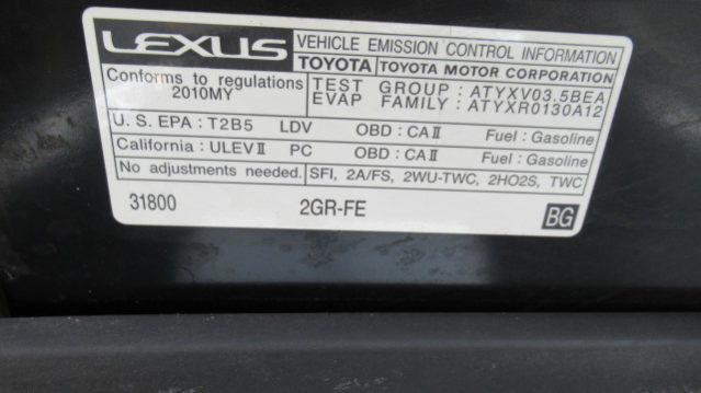 2010 Lexus ES350 - Car Toyz Auto Broker